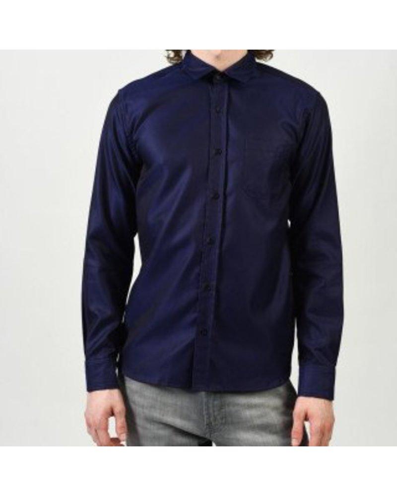 Alexander Olch Polished Cotton Twill (Blue)