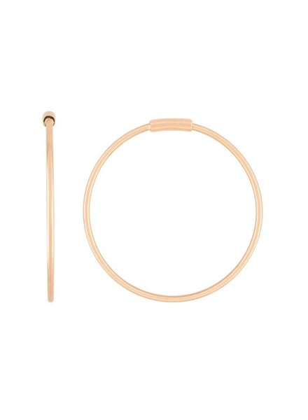 GINETTE NY Baby Circle Hoops 18K Rose Gold