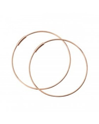 GINETTE NY Baby Circle Hoops 18K Rose Gold