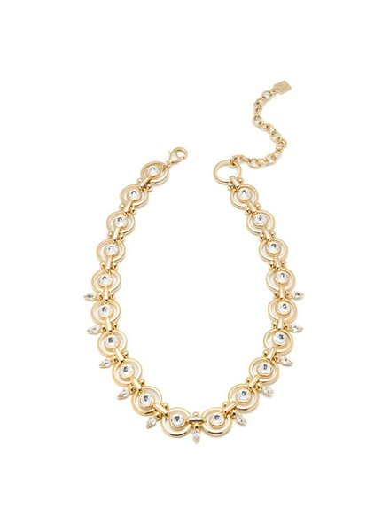 DANNIJO Capote Clear Crystal/Gold Necklace