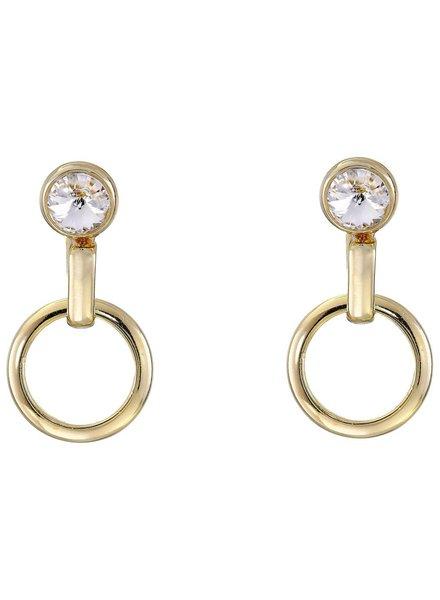 DANNIJO Melbourne Clear Crystal/Gold Earrings