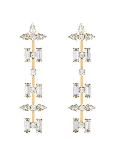 DANNIJO Wylie Clear Crystal/Gold Earrings