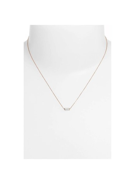 GINETTE NY Mini Straw Diamond Necklace 18K Rose Gold