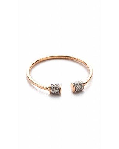 GINETTE NY S7 Single Diamond Choker Ring 18K Rose Gold