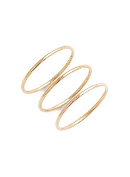 GINETTE NY Circle Ring 18K Rose Gold - Set Of 3
