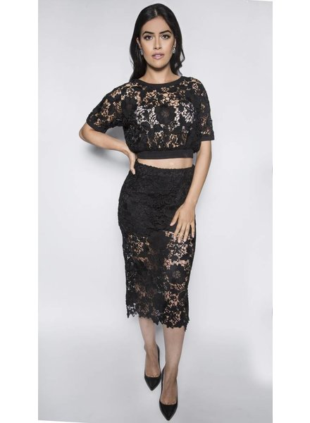 SEN FRANCIS CROCHET PENCIL SKIRT