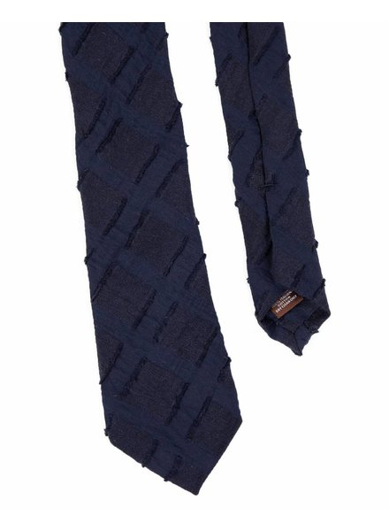 Alexander Olch Jacquard Cut Squares Tie - Navy