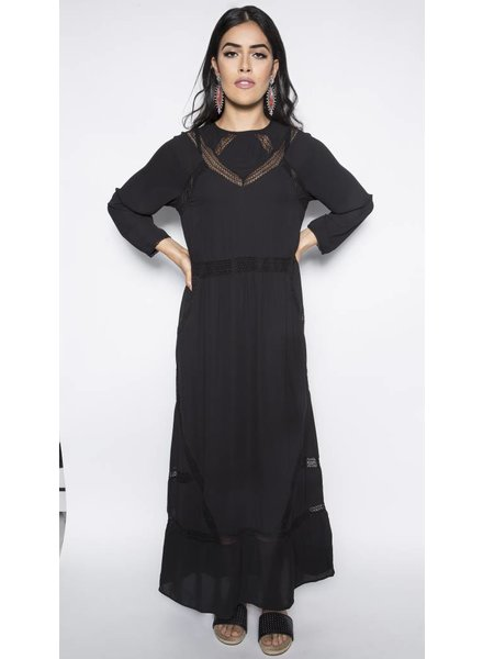 GAT RIMON DRESS CREPE MACRAME