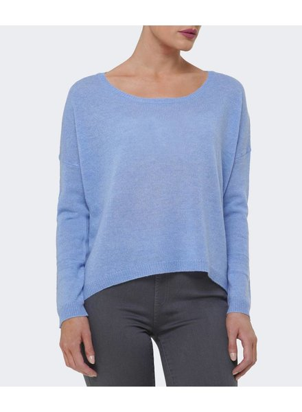 CHARLI SKY BLUE CASHMERE PULLOVER