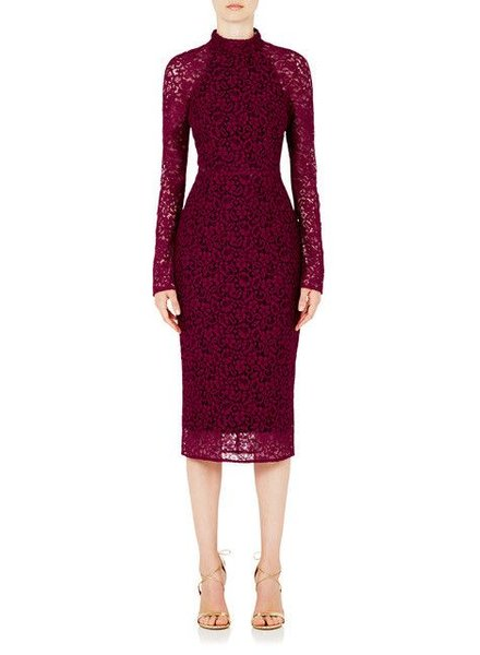 REBECCA VALLANCE Dolce Vita Pencil Dress Berry