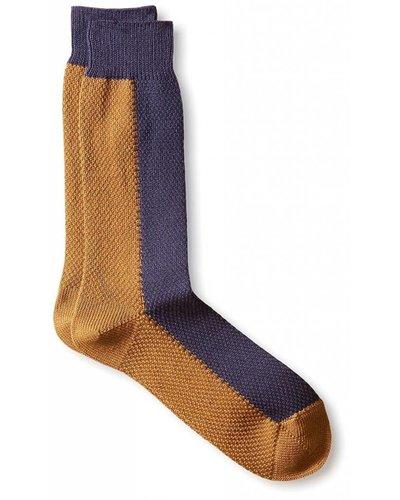 Robert Geller Two-Tone High Socks