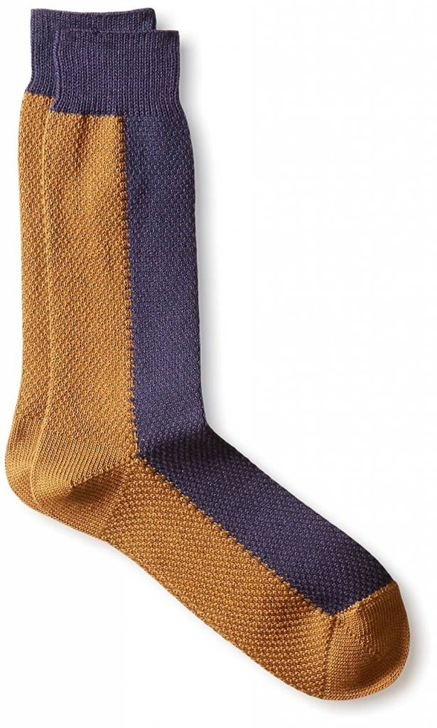 Robert Geller Two-Tone High Socks