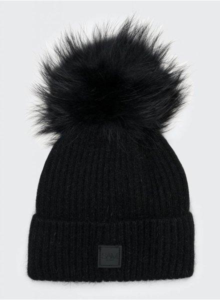 SAM. Fur Beanie Black