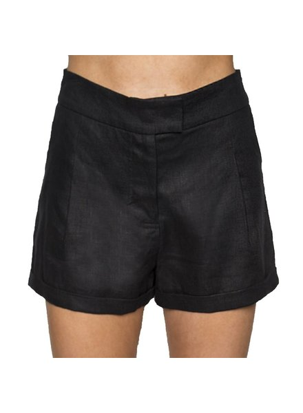 Whitney Linen Black PalmBeach Shorts