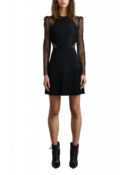 REBECCA VALLANCE GABRIELLA SPOT LACE MINI Dress