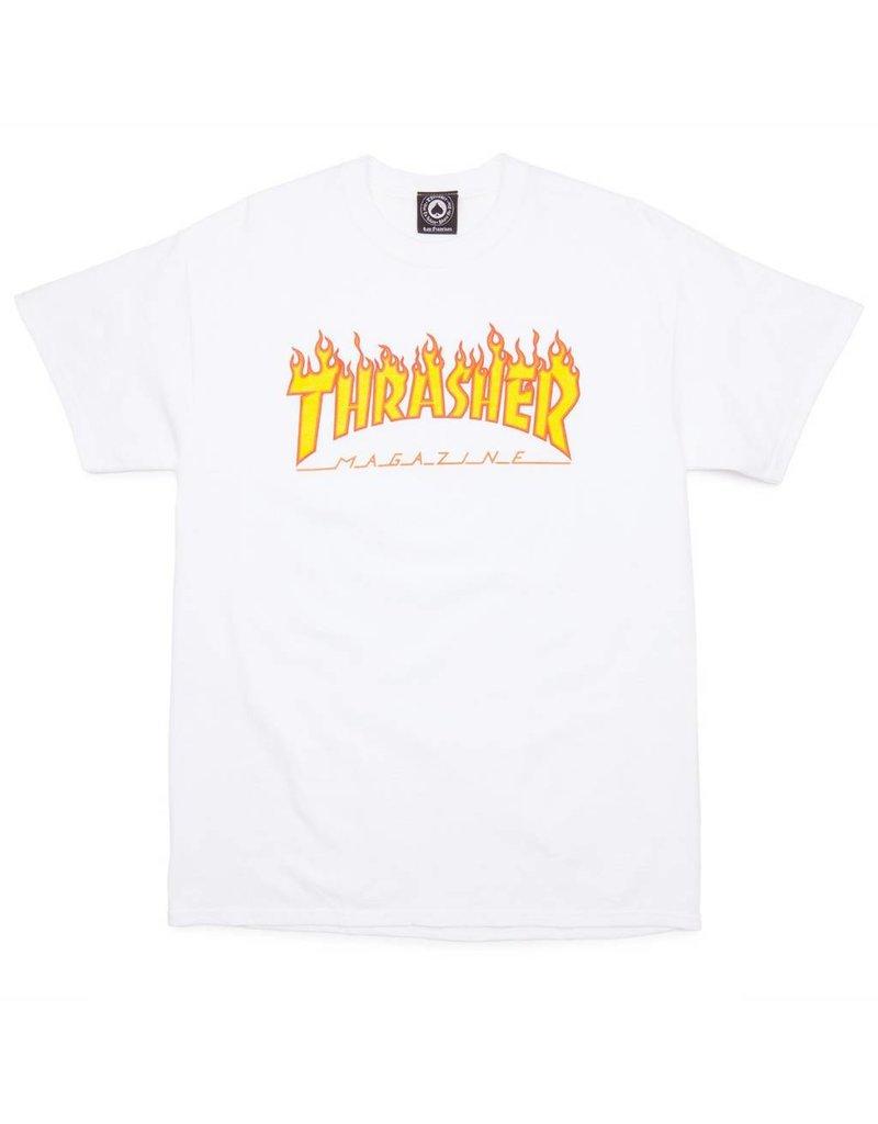 Thrasher Mag Thrasher Flame t-shirt White (size X-Large)