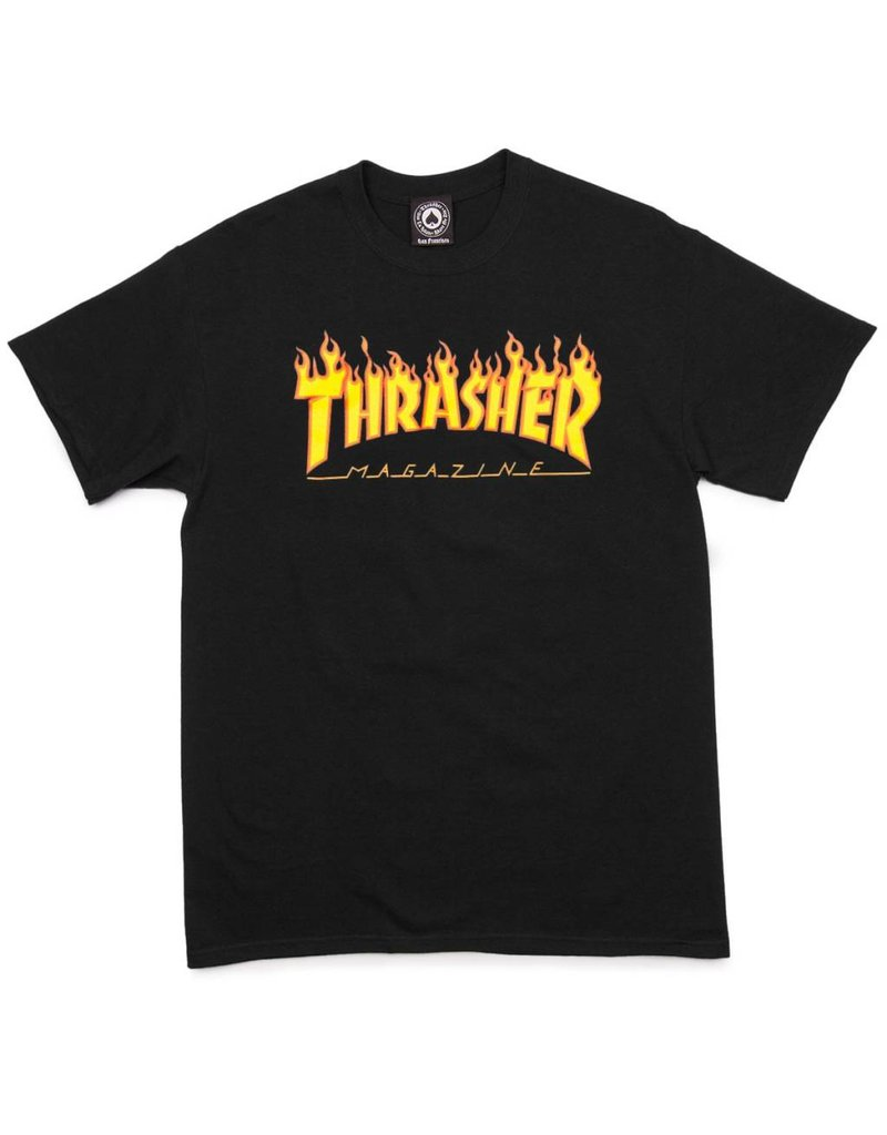 Thrasher Mag Thrasher Flame t-shirt Black (size Small)