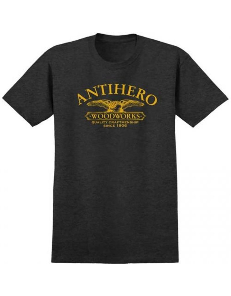 Anti-Hero Anti-Hero Woodworks T-shirt - Black Heather