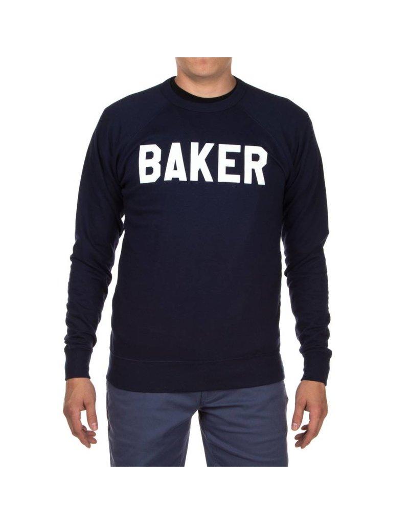 Baker Baker Rally Crewneck - Navy  (size  Large)