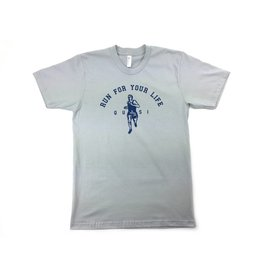 Quasi Quasi Run for your Life T-shirt - New Silver