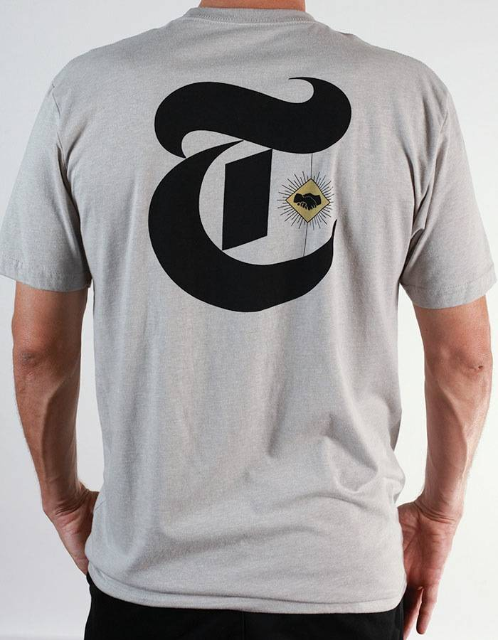 Theories Brand Theories Brand TOA Times T-shirt - Silk/Black  ( size X-Large)