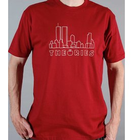 Theories Brand Theories Brand Big Apple T-shirt - Cardinal (Medium)
