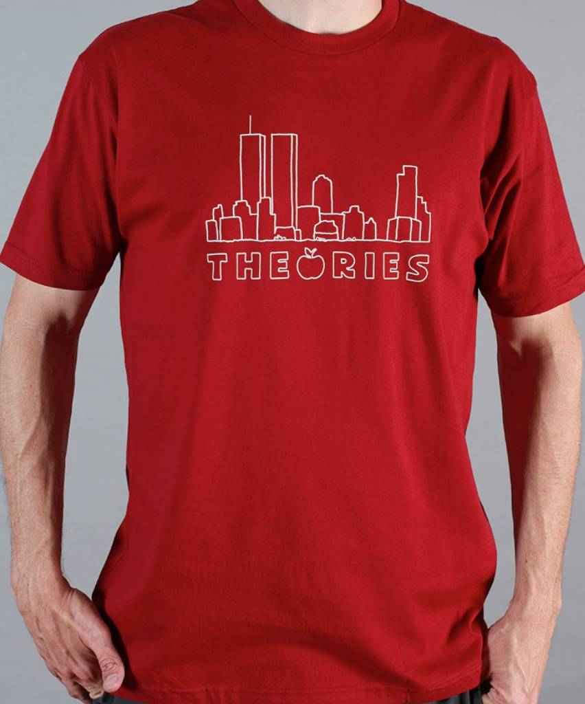 Theories Brand Theories Brand Big Apple T-shirt - Cardinal (size Medium)