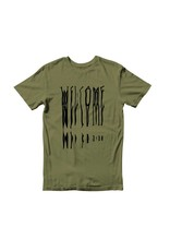 Welcome Welcome Drag T-shirt - Olive/Black (Small or Medium)