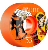 Bones Wheels Bones STF v1 Bartie Saint 53mm Orange Wheels (set of 4)