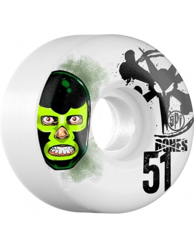 Bones Wheels Bones SPF v1 Lucha LIbre 51mm wheels  (set of 4)