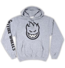 Spitfire Spitefire Bighead Fill Sleeve Print Hoodie - Heather Grey - Medium