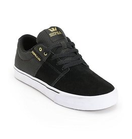 Supra Supra Stacks Vulc II - Black/Gold/White (size 10 or 10.5)