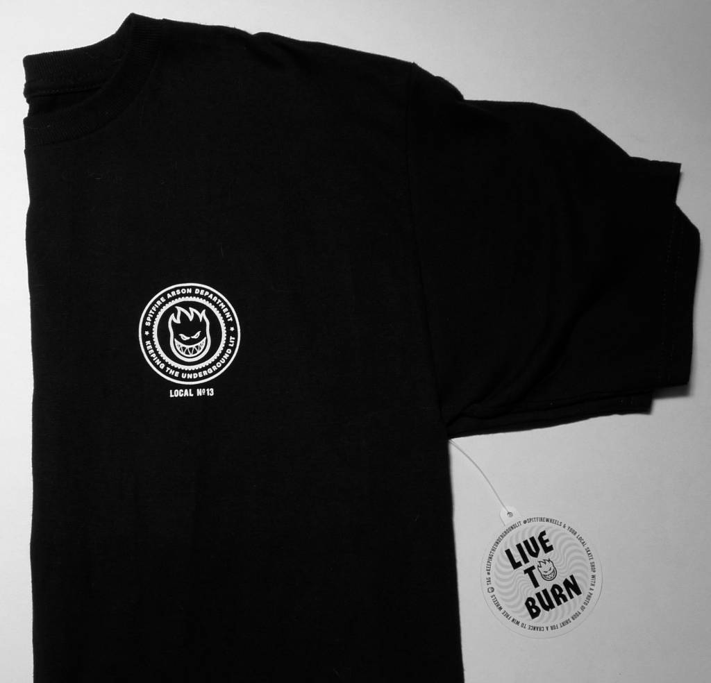 Spitfire FA x Spitfire T-shirt - Black (only size Small left)