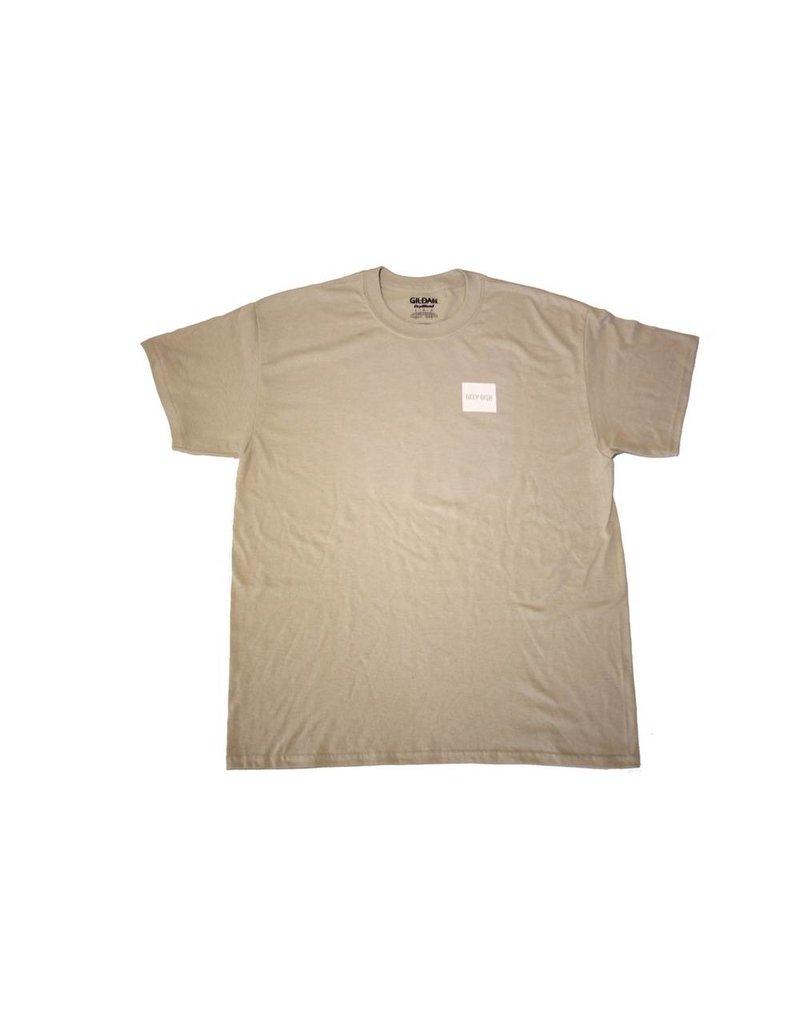 DEEP DISH Deep Dish Block Logo T-Shirt - Sand
