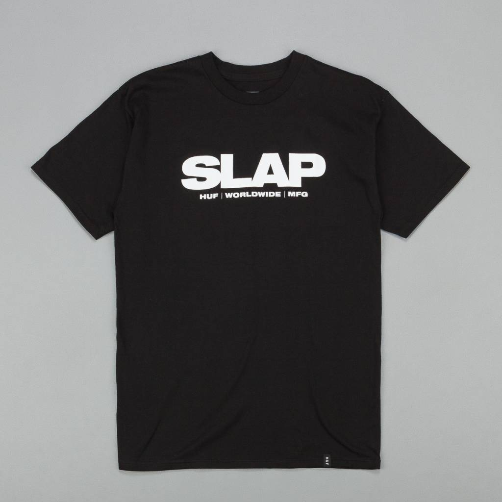 Huf Worldwide Huf (Slap) T-shirt - Black