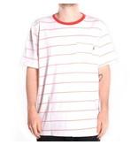 Huf Worldwide Huf Mini Stripe Pocket T-shirt - White/Red