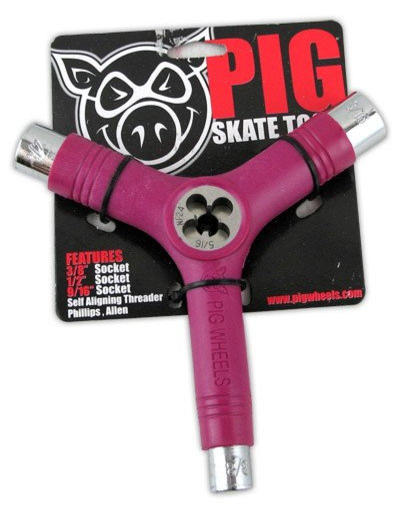 Pig Pig Tri-Socket Threader Skate Tool - Pink