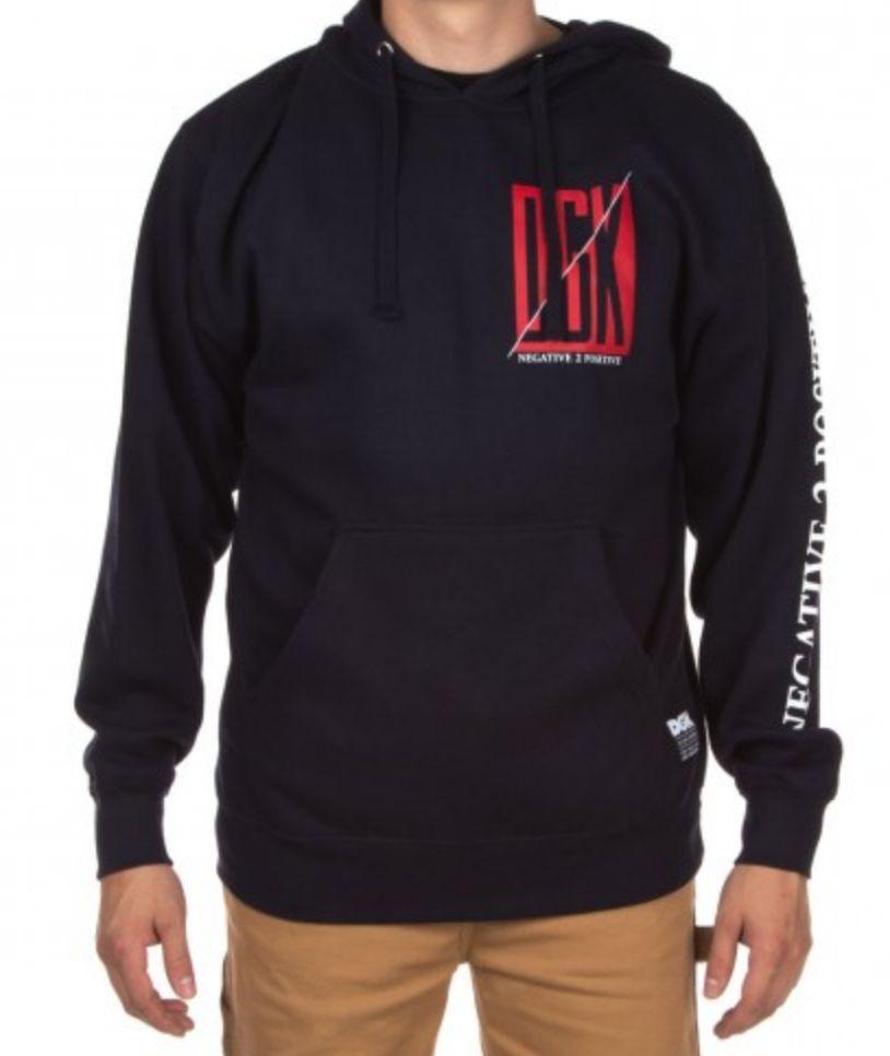 DGK DGK Positive Pullover Hoodie - Navy (size X-Large)