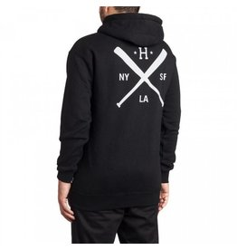 Huf Worldwide Huf Strike Out Pullover Hoodie - Black Size Small