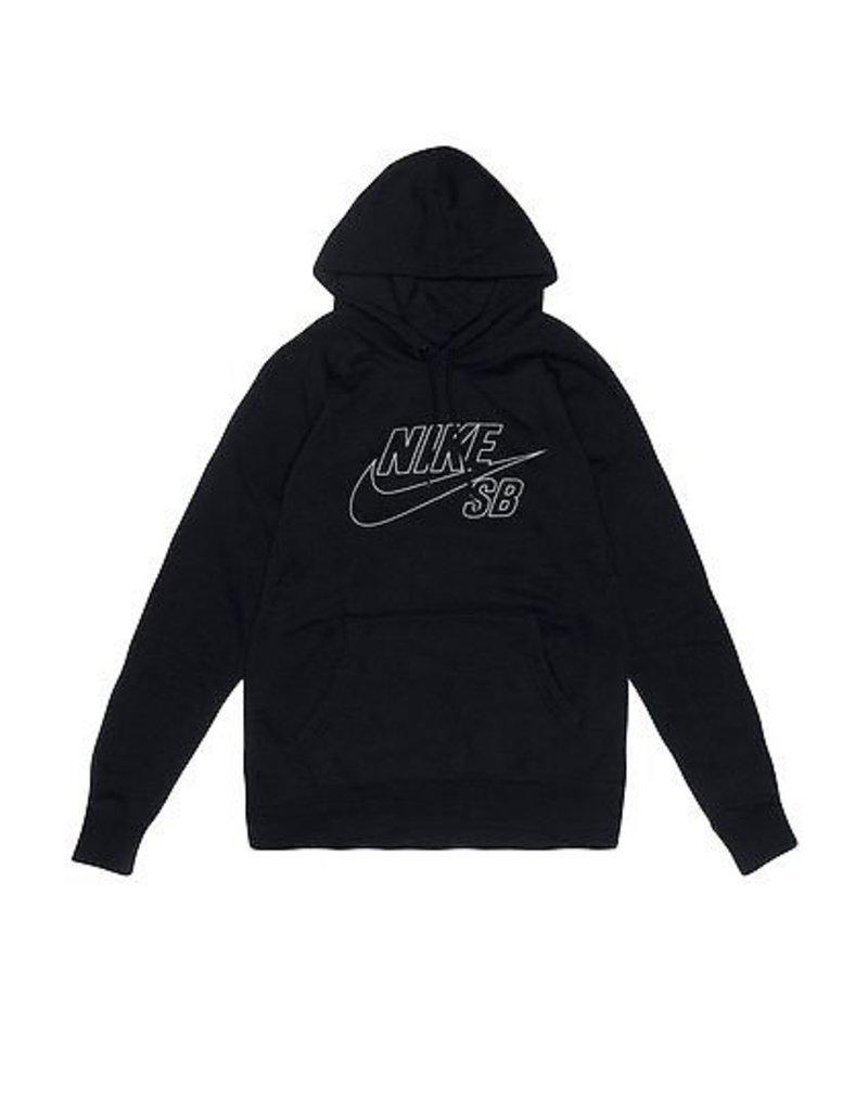 Nike SB Nike sb Fleece Reflective Pullover Hoodie - Black (Medium or Large)