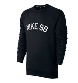 Nike SB Nike sb Icon Fleece Crewneck - Black (X-Large)