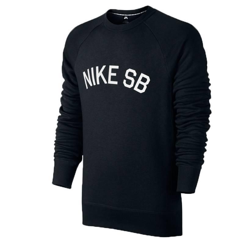 Nike SB Nike sb Icon Fleece Crewneck - Black (X-Large)