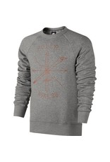 Nike SB Nike sb x Poler Icon Fleece Crewneck -Dark Grey Heather