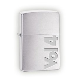 Vol 4 Vol 4 Brushed Chrome Zippo Lighter