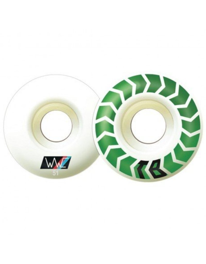 Wayward Wayward Bledsoe Chevrons Slim 100a 51mm Wheels (set of 4)