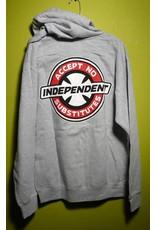 Independent FA skates x Independent accept no substitutes Hoodie - Grey (Medium)