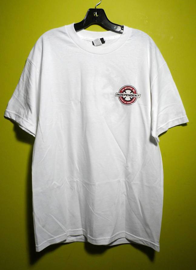 Independent FA skates x Independent accept no substitutes T-shirt - White