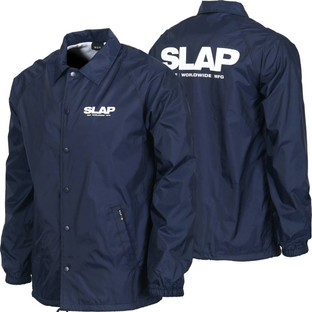 Huf Worldwide Huf x Slap Coaches Jacket - Navy (size X-Large)
