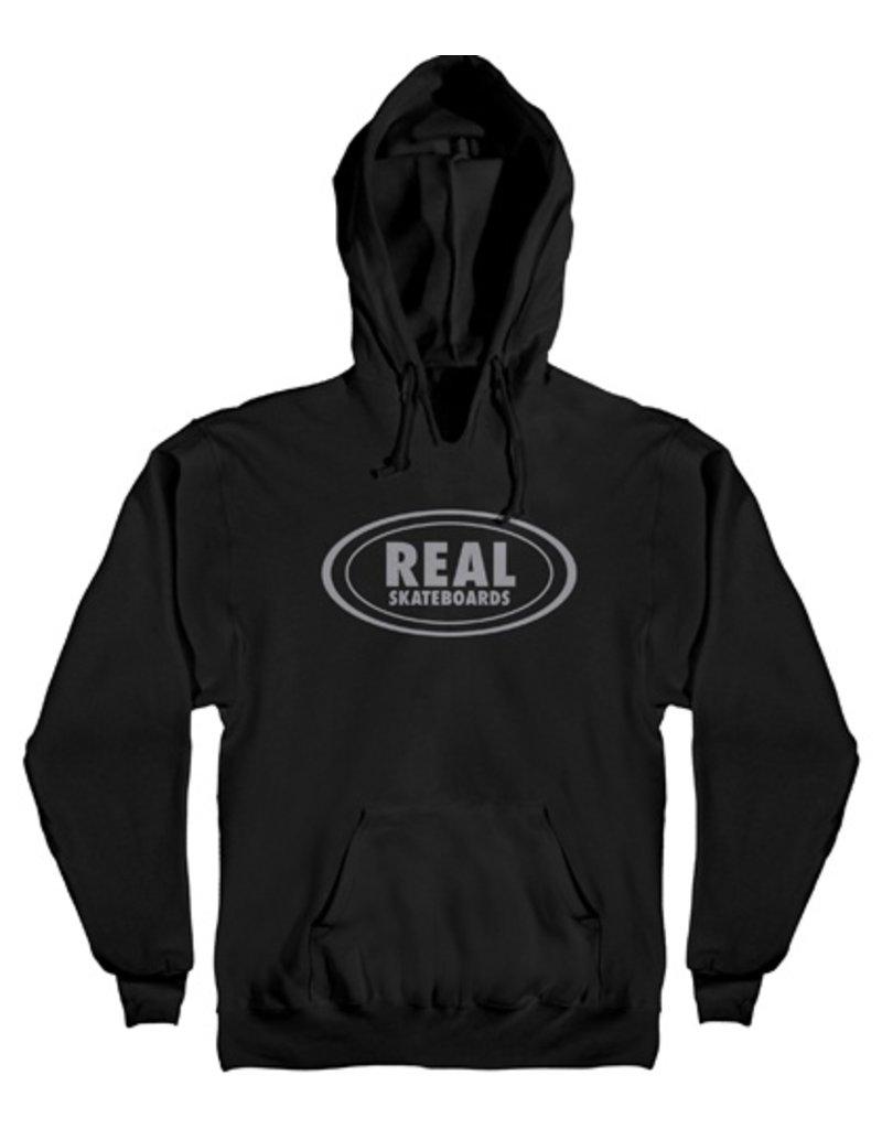 Real Real Oval Hoodie - Black