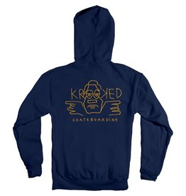 Krooked Krooked Dude Double Hoodie - Navy (size Large)